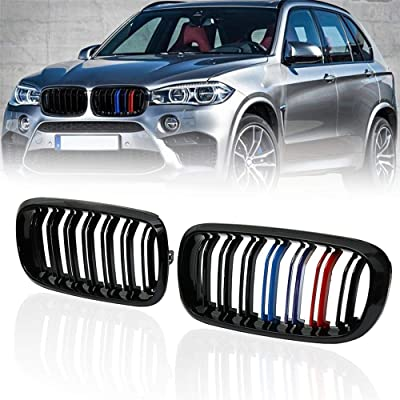 Front Replacement Kidney Grille Grill Compatible with BMW X5 Series F15 X6 Series F16 X5M F85 X6M F86 (Gloss M Color): Automotive