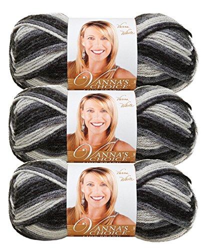 Vanna'S Choice Yarn-Charcoal Print (Lion Brand Yarn Linen)