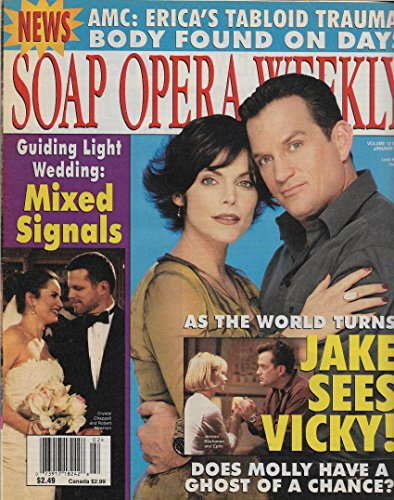 Soap Opera Weekly Magazine - January 9, 2001 - Lesli Kay & Tom Eplin (As the World Turns) l Crystal Chappell & Robert Newman (Guiding Light)