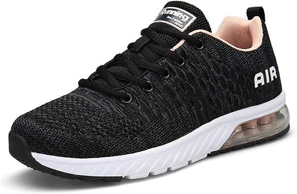 Axcone Hombre Mujer Zapatillas de Correr Casual Aire Libre Deporte Fitness Zapatillas de Running para Deportivos Entrenamiento 35-45EU: Amazon.es: Zapatos y complementos