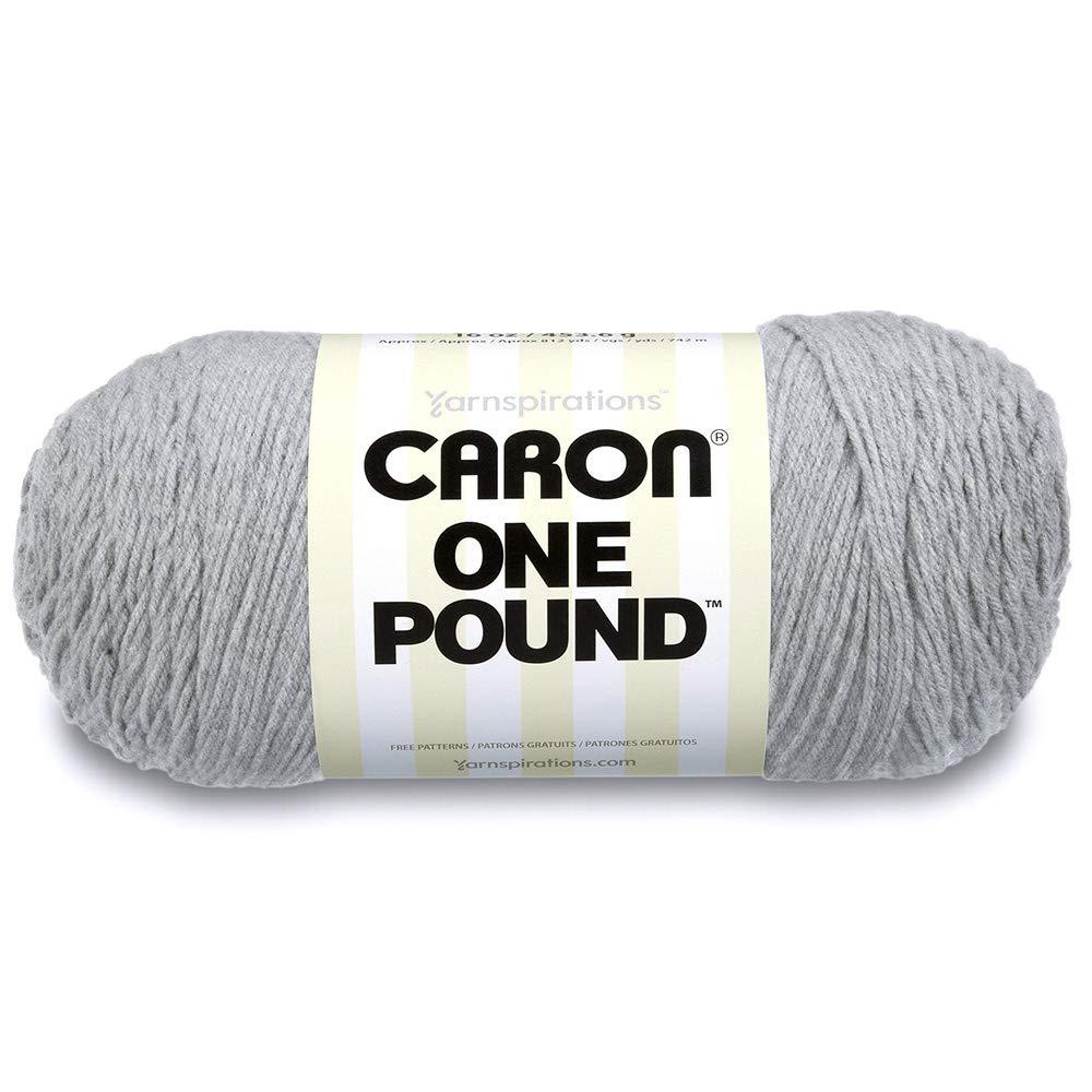 Caron One Pound Yarn Soft Gray Mix