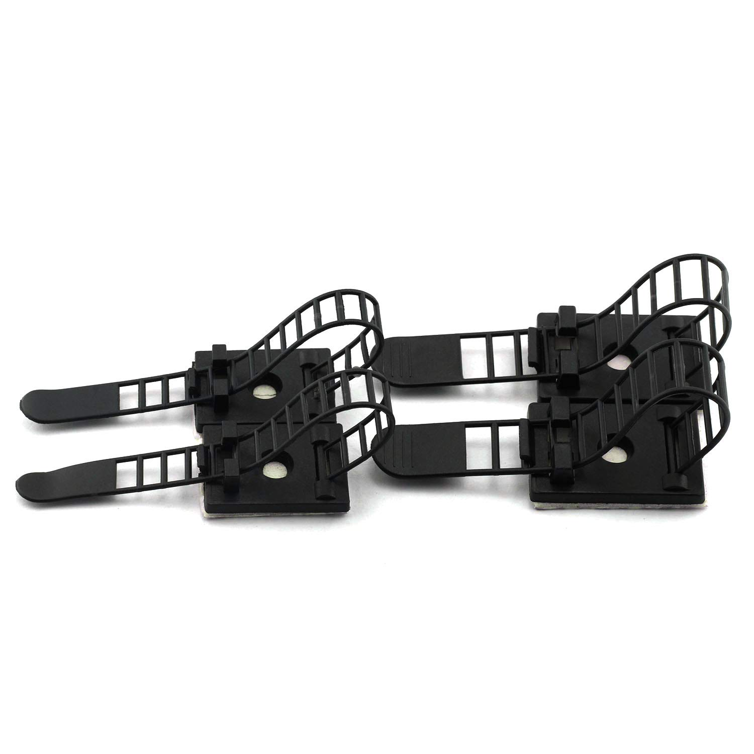 50pcs 91mm Adjustable Self Adhesive Cable Clips Wire Organizer with Optional Screw Mount for Electric Wiring Accessories Cable Clamp Clips Fixed Fasten Cable Tie Black Magic/&Shell