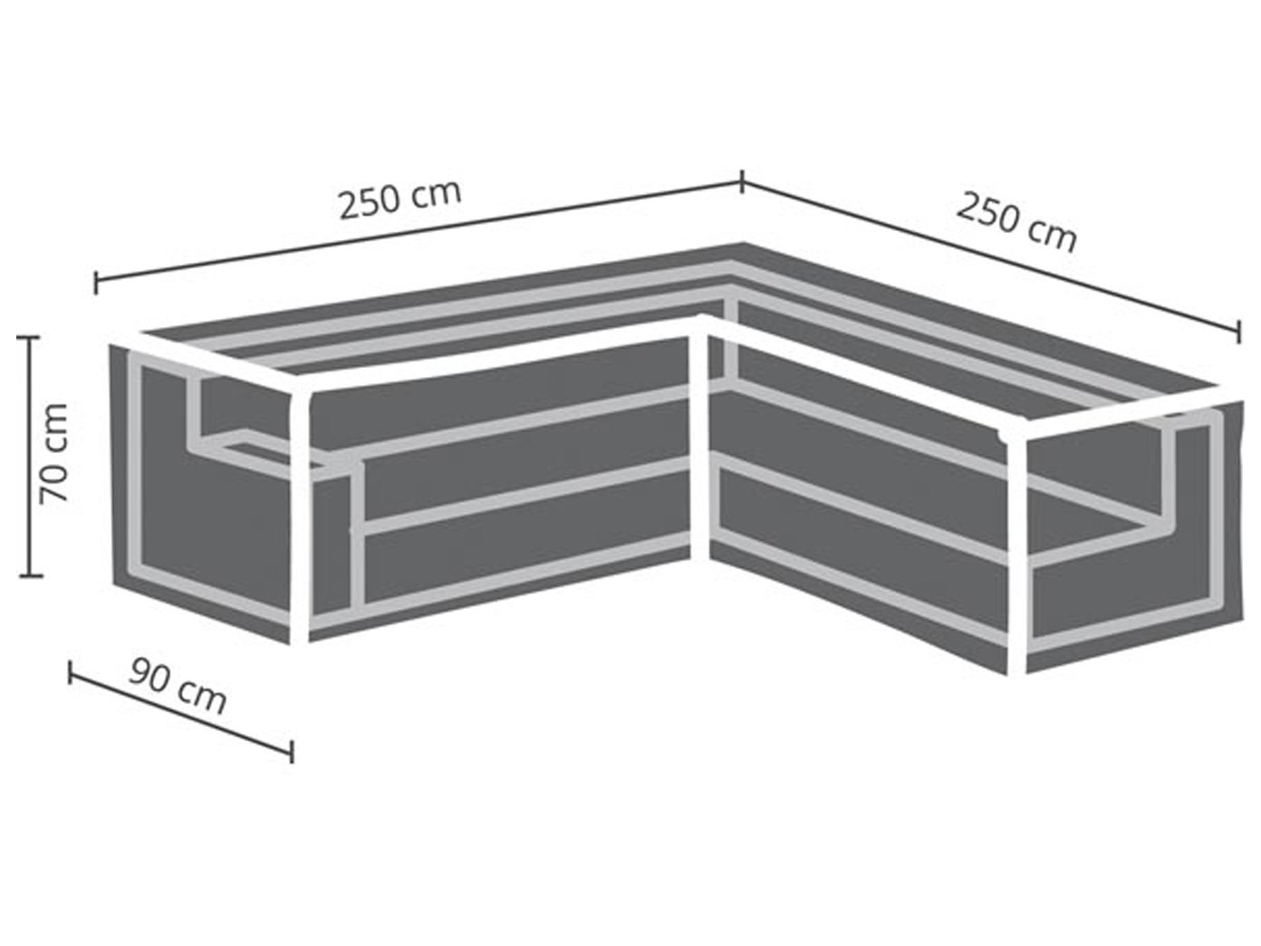 Amazon.de: Perel Garden OCLSL250 Schutzhülle Für L-Förmiges Lounge ...