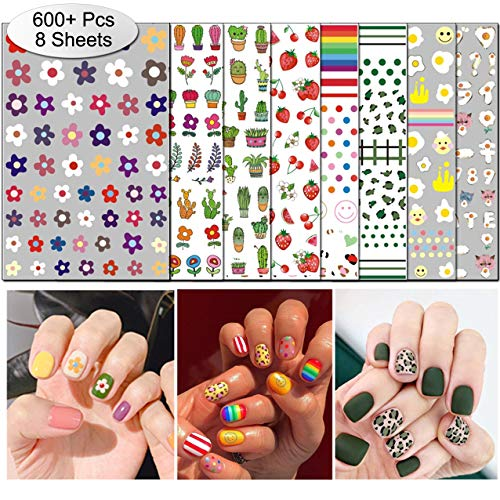 Halloween Nail Polish Strips 2019 (TailaiMei 2019 New Nail Decals Stickers, Popular Style in Korea Instagram - 800+ Pcs Self-adhesive Tips DIY Nail Art Design Stencil (8)