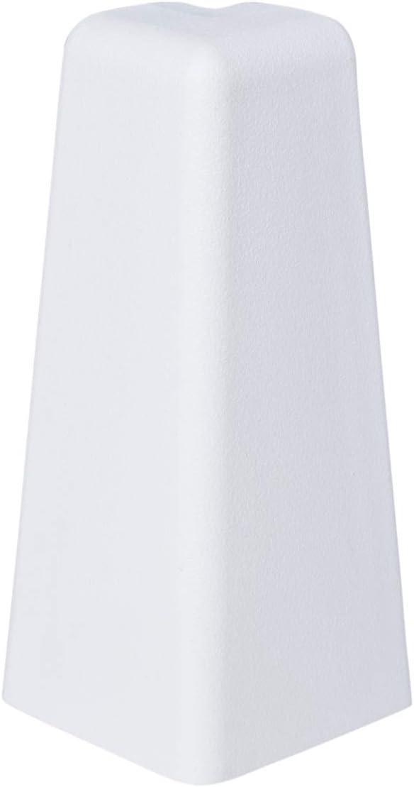 Innenecke f/ür MDF-Sockelleisten in 60mm H/öhe in Wei/ß