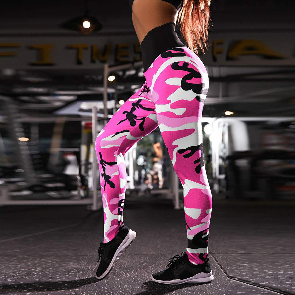 Amazon.com: SULEAR New Sports Leggings Women Workout Print ...