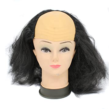 cosin bald head wigs for halloween costume black