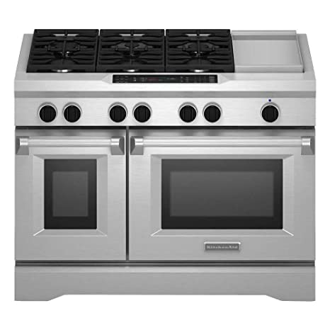 Amazon Com Kitchenaid Kdrs483vss Commercial Style Dual Fuel Range