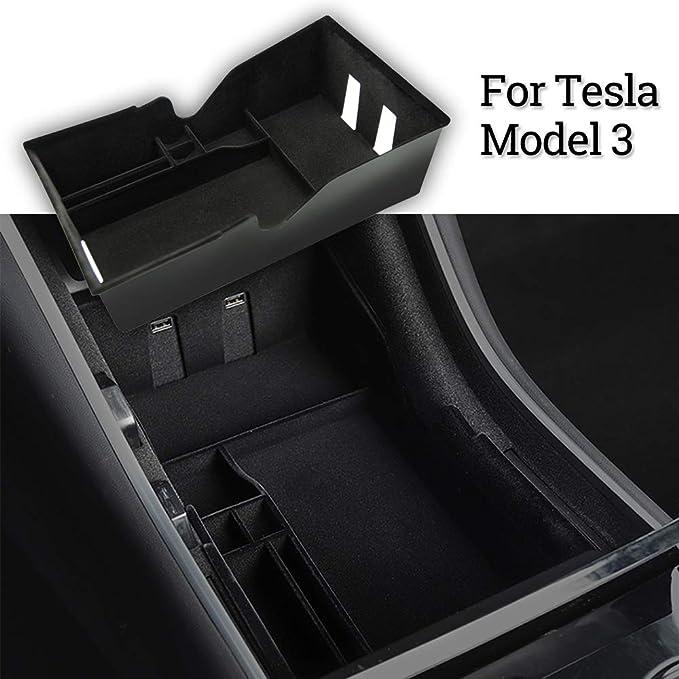 Topfit Model 3 Mittelkonsole Organizer Tray Aufbewahrungsbox Münz Und Sonnenbrillenhalter 2017 2020 Auto