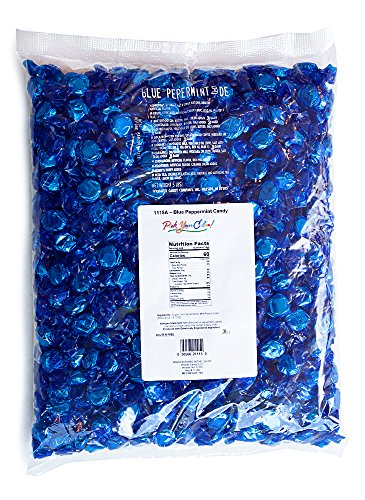 Pick Your Color! Premium Hard Candy | Blue Candy, Perfect for Candy Buffets, Candy for Party Favors | Peppermint Flavor, 5 Pound Bag