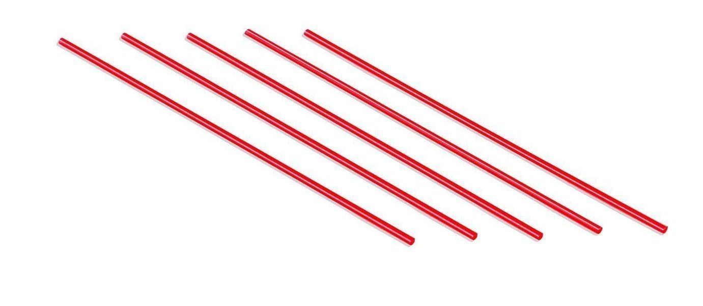 Plastic Coffee Stirrers Red Straws - by Plastible Cocktail Drink Sip Stir Sticks For Bars Cafes Restaurants Home Use (4000, 7.5 inches)
