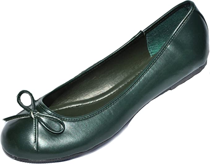 DARK BOW Verde Basic BOW DARK Retro Ballerinas mit Schleife Rockabilly Vintage  zapatos 177e41