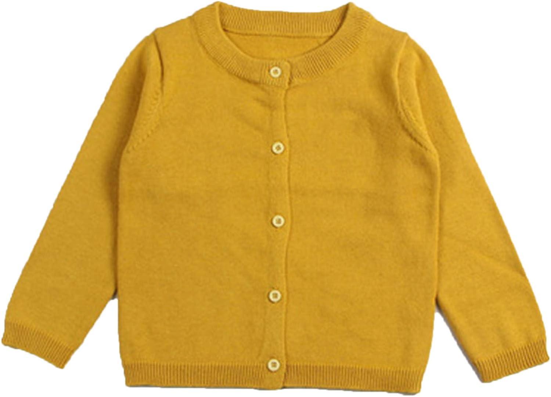 Elonglin Gilet Tricot B/éb/é Enfant Fille Cardigan Longues Manches Souple Sweater