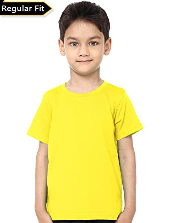 9fa73c143fb Kids Round Neck Tshirt  Amazon.in  Clothing   Accessories