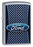 Zippo Ford Logo Pocket Lighter, Street Chrome