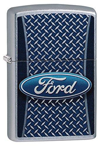 Zippo Ford Logo Pocket Lighter, Street Chrome (Zippo Car)