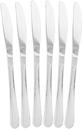 COM-FOUR® cuchillo de menú 6x de acero inoxidable - cubiertos de ...