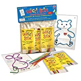 Wikki Stix Assorted Fun Favors (English & French Bilingual playsheets & packaging), Pack of 50 Molding & Sculpting Sticks