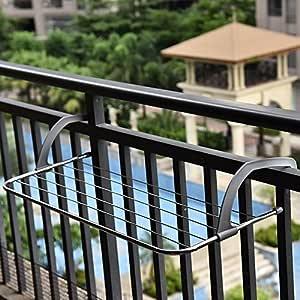 Colgador de ropa plegable de acero inoxidable balcon ...