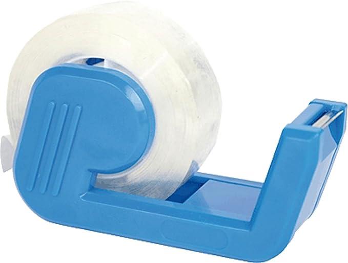 proffice 108045 Klebebandabroller mit Klebefilm glasklar blau