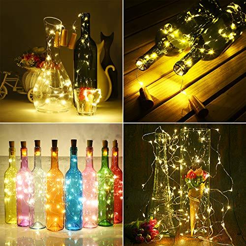 luz de botella, luz de bricolaje, luz ambiente, lámpara decorada, Súper brillante, ecológico, flexible y seguro, 18 LED/100cm para entorno romántico, ...