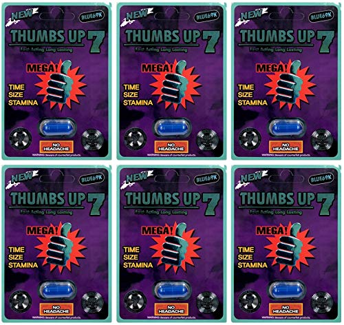 Thumbs Up 7 Blue 69K 6Pills Best Male Enhancing Natural Performance Capsules New Premierzen Most Effective Natural Amplifier for Performance, Energy, and Endurance (Blue(6PILL))
