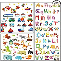 3pcs Animal Alphabet ABC Truck Wall Decals Stickers for...