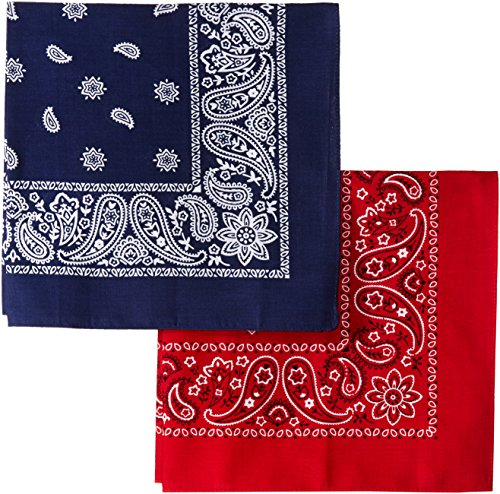 Levi's Men's 100% Cotton Bandana Headband Gift Sets, Red, Blue, One -