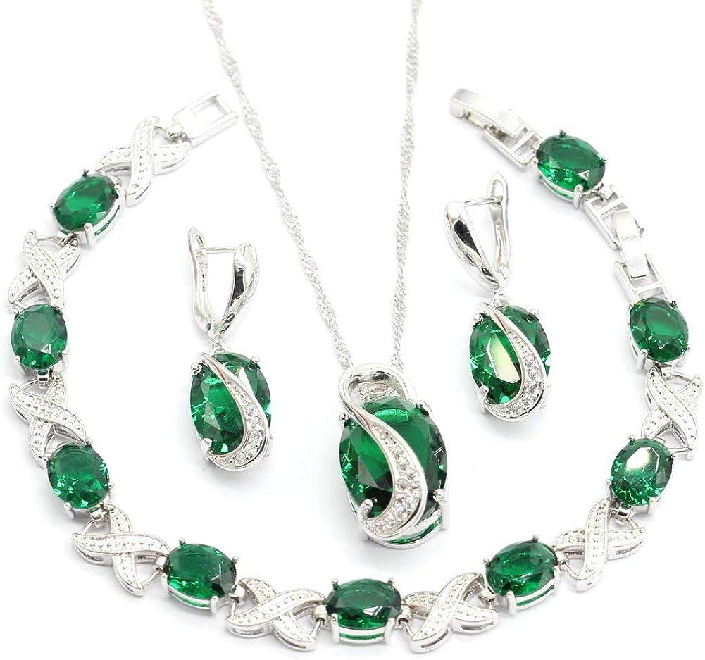 Women Jewelry Set Green...