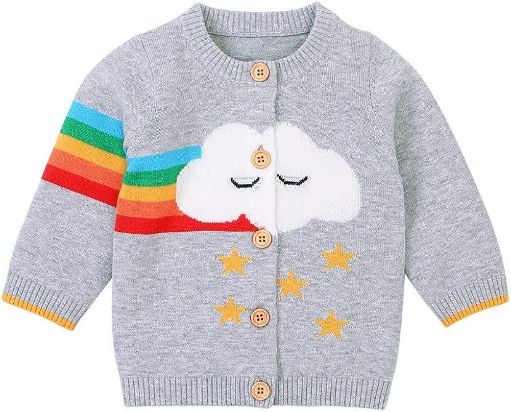 BOBORA Newborn Baby Girl Boy Winter Long Sleeve Knitted Cardigan Toddler Warm Knitwear Jacket Coat 0-18Months