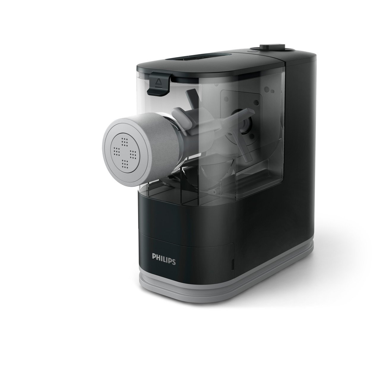 Philips Compact Pasta and Noodle Maker with 3 Interchangeable Pasta Shape Plates -  Black - HR2371/05 by Philips Kitchen Appliances