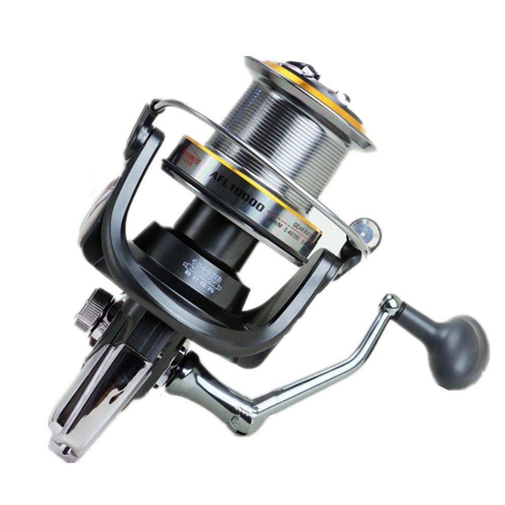 釣り用リール 釣りリール/ダブルドラッグブレーキシステムスピニング釣りリールbaitrunnerリール10 + 1ベアリング左右交換可能なハンドル用塩水淡水釣り 11000  B07QHHFT8Q