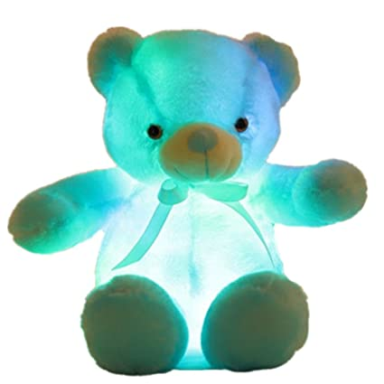 Amazon Com Creative Light Up Led Inductive Teddy Bear Stuffed