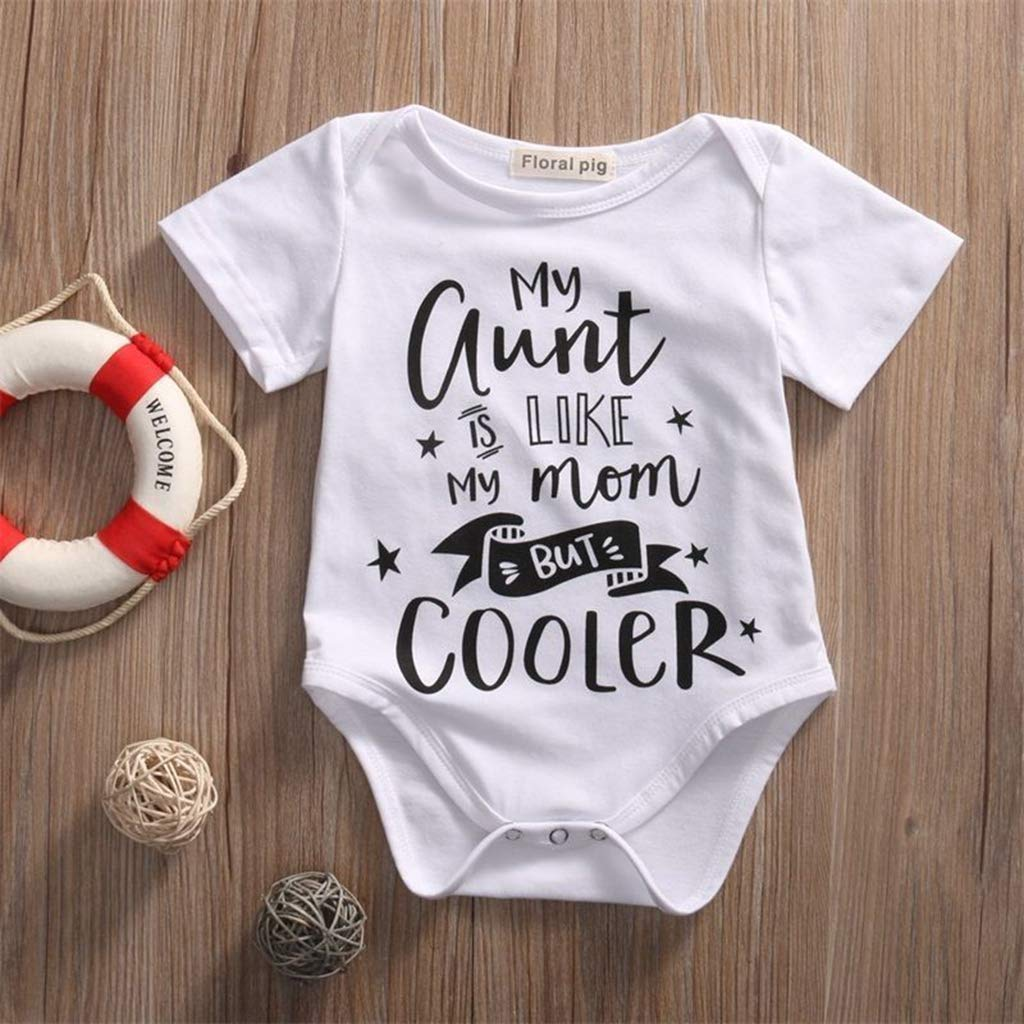 Bone Cute Baby Boy Girl Clothes Toddler Romper Infant Jumpsuit Letter Short Sleeve Clothing Newborn Outfits B