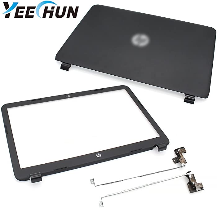 "YEECHUN New Replacement LCD Back Cover for HP 250 255 G3 15-G 15-H 15Z-G 15G 15R 15-G040CA 15.6"" Series (Front Bezel & Hinges Included)"