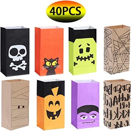HALLOWEEN ~ 6 Black Treat Goody Candy Gift Boxes Birthday Party Favors