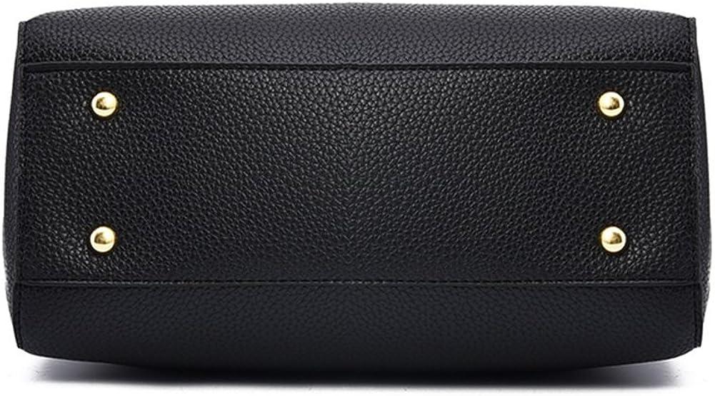 YEMEKE PU Leather Handbags for Women Shoulder Bags Tote Satchel Purse Set Women Handbag 2 PCS Set Bag