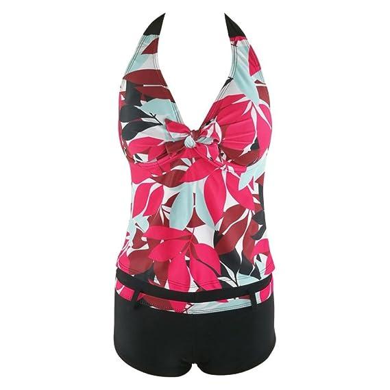 DEELIN Bikini Estampado de Gran Tamaño de Las Mujeres del Vendaje Push-ups Engrosamiento Sujetador Traje de Baño de Playa Baño Traje de Baño: Amazon.es: ...