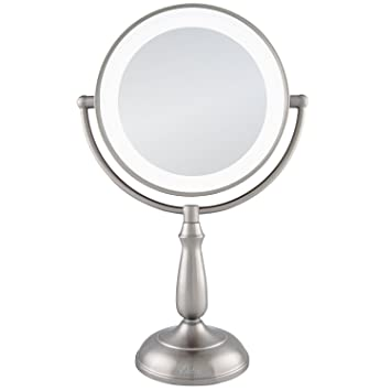Zadro 10x 1x dual sided next generation led lighted dimmable touch vanity mirror satin