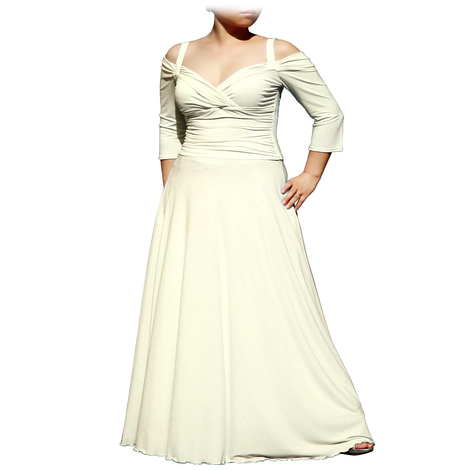 3 4 sleeve evening dress 0 3