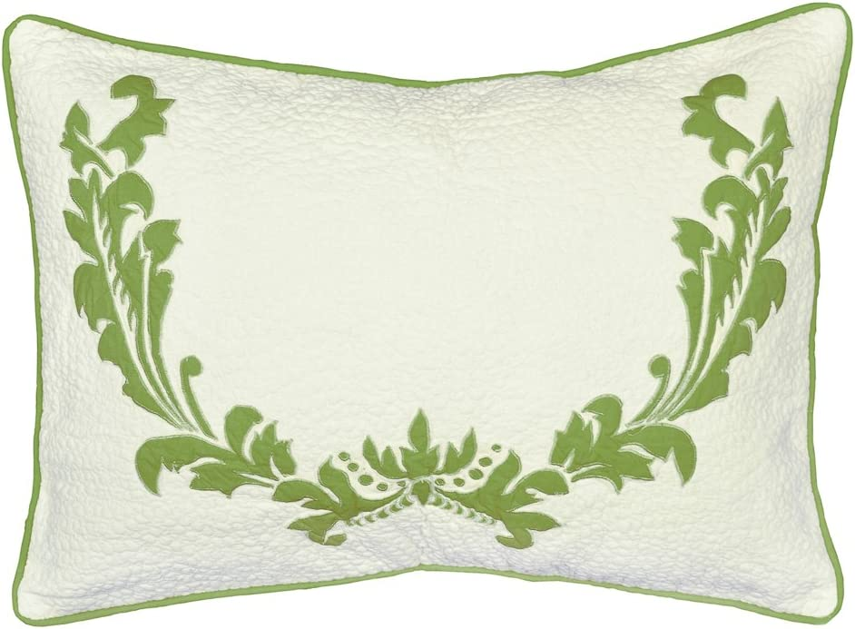 Be-You-tiful Home Damask Euro Sham, King, Green
