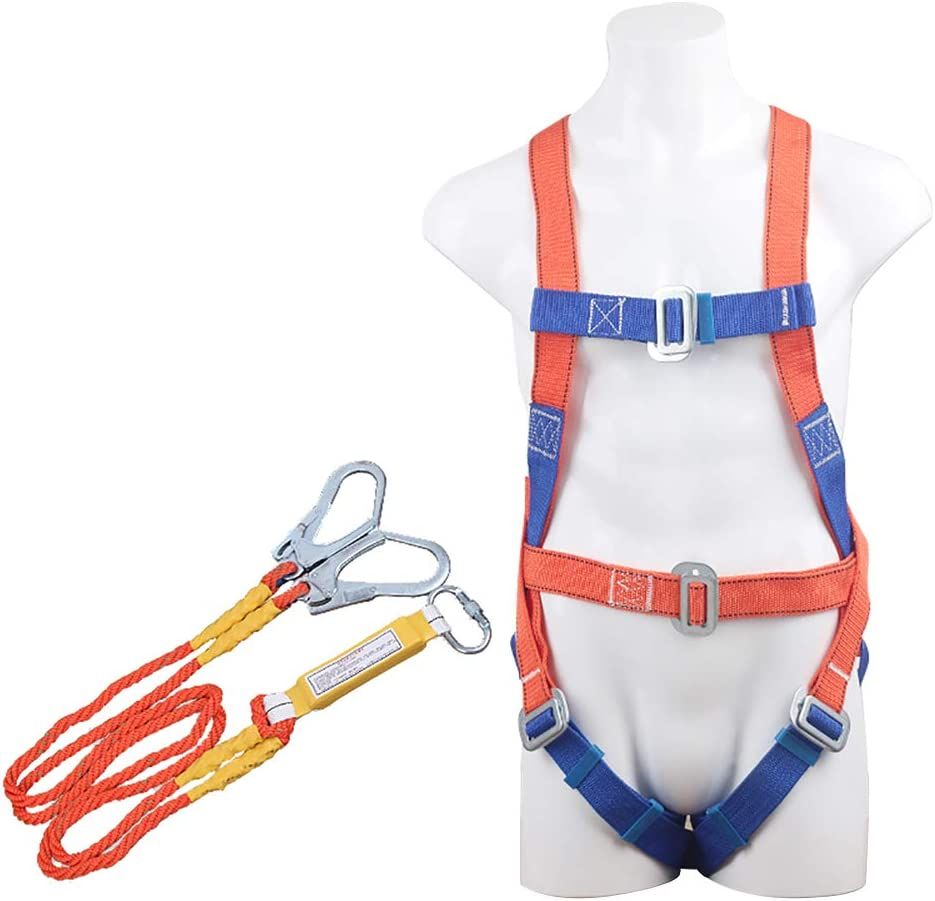 Safety Climbing Harness,Aerial Work Safety Belt,Fall Protection Harness,Safety Harness With Internal Shock Absorbing Lanyard