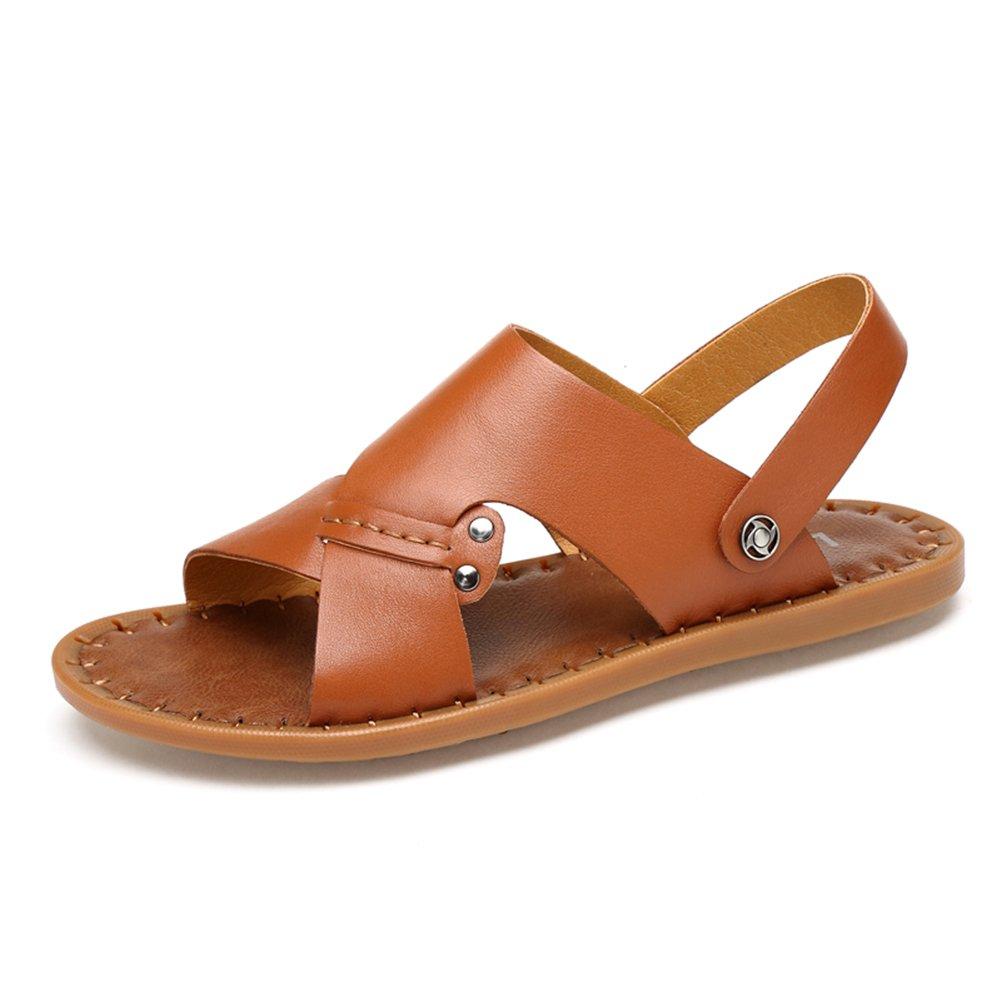 Zapatos de Hombre Cuero Sandalias Zapatillas Zapatos de Playa Marrón 44 EU|Marrón