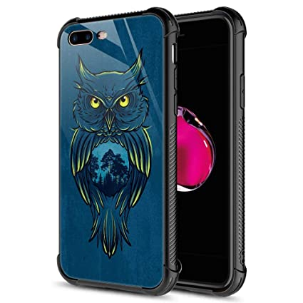 Amazon.com: Funda para iPhone 8, diseño de mármol negro ...