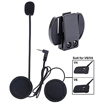 VNETPHONE Auriculares Para Casco Moto Intercom Talkie accesorio Clip y auriculares manos libres para el V6