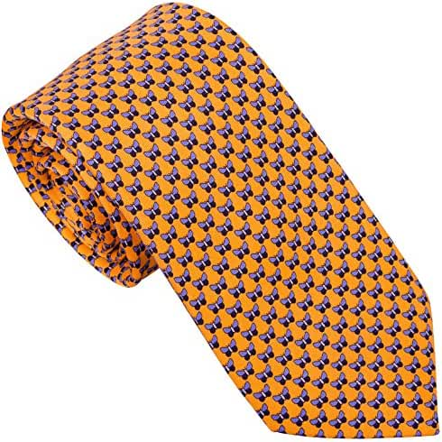 Sebastien Grey Men's 7 Fold Silk Tie