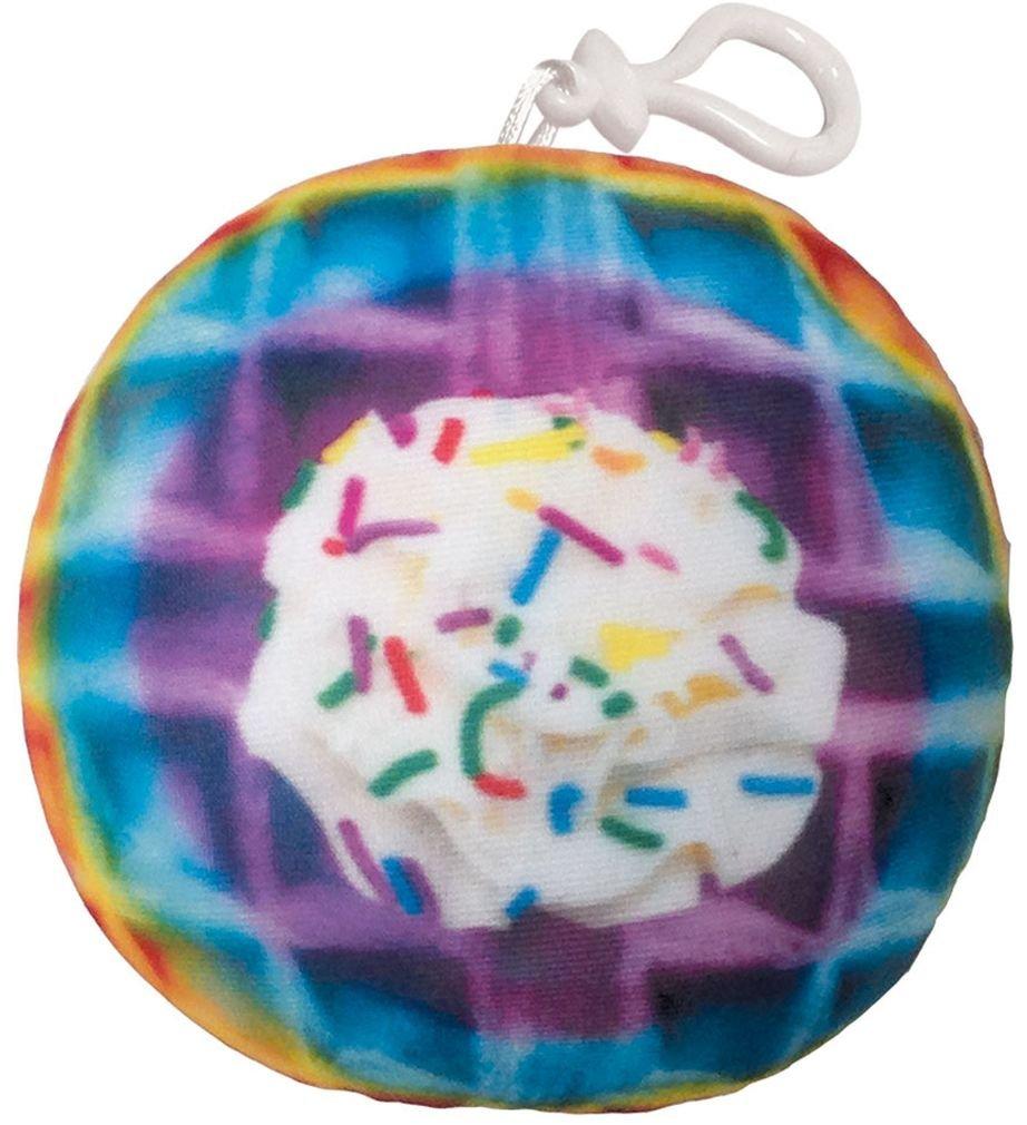 iscream Strawberry Scented Rainbow Waffle Mini Microbead Pillow Backpack Charm