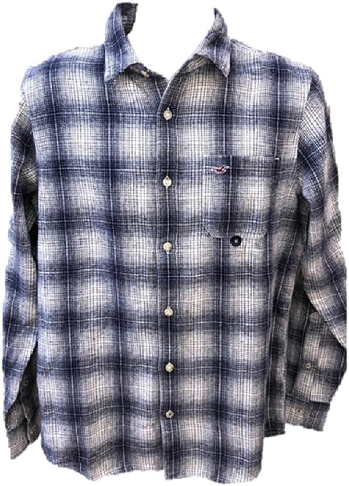 Hollister - Camisa casual - para hombre Azul blanco Medium ...