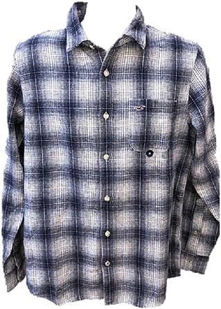 Hollister - Camisa Casual - para Hombre Azul Blanco Medium: Amazon ...