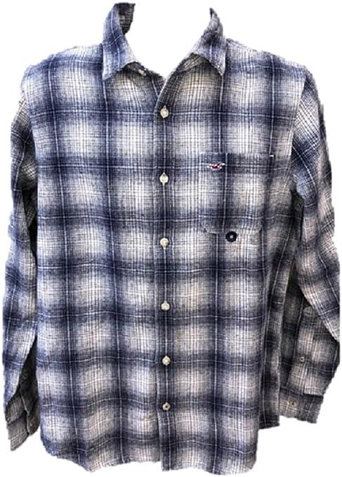 Hollister - Camisa casual - para hombre Azul blanco Medium: Amazon.es: Ropa y accesorios